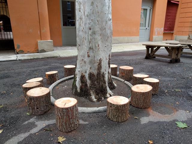 sedute di tronchi